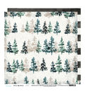 Heidi Swapp Wolf Pack Double Sided Cardstock-Sketched Pine Trees Stripes