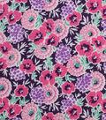 1930\u0027s Cotton Fabric 43\u0022-Floral Garden Purple