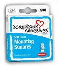 Scrap Adhesive Half Size Mounting Squares-500PK/Permanent