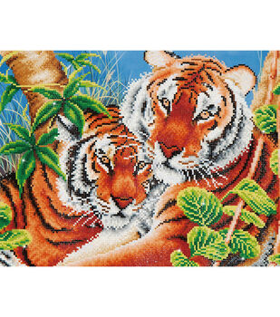 "Diamond Embroidery Facet Art Kit 23.5""X17""-Tender Tiger"
