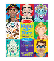 Melissa & Doug Make-a-Face Crazy Characters Sticker Pad, , hi-res