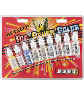 Jacquard 8 pk Metallic Airbrush Colors with Varnish