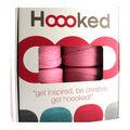 Hoooked Zpagetti Pouf DIY Crochet & Knit Kit-Cherry Blossom