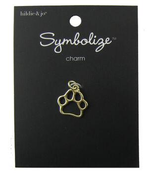 hildie & jo Symbolize 0.75''x0.75'' Open Paw Gold Charm