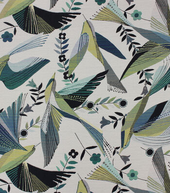Richloom Studio Multi-Purpose Decor Fabric-Hummingbird Peacock