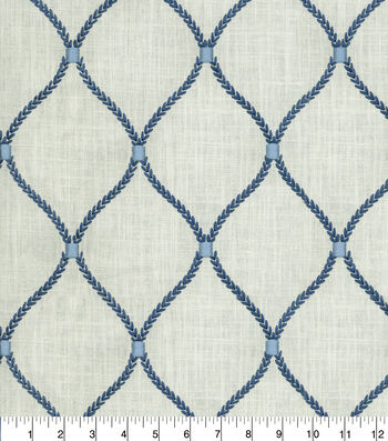 Williamsburg Multi-Purpose Decor Fabric 54''-Porcelain Deane Embroidery