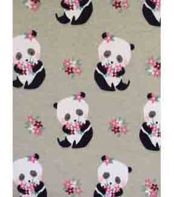 Doodles Juvenile Apparel Fabric 57''-Pretty Panda