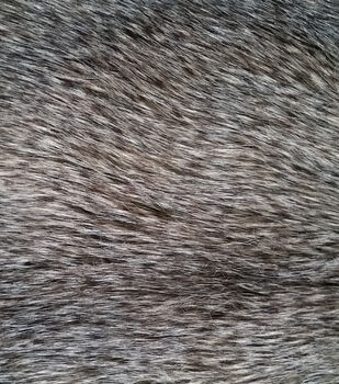 Luxury Faux Wolf Fur Fabric -Gray
