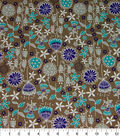 Quilter\u0027s Showcase Cotton Fabric-Floral Mix on Beige