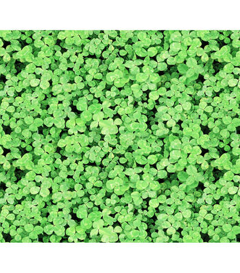 St. Patrick's Day Cotton Fabric -Photo Real Clover
