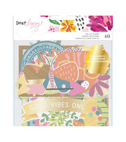 American Crafts Dear Lizzy New Day 40 pk Die-cut Shapes, , hi-res