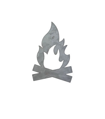 Hampton Art Galvanized Icon-Campfire