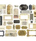 Carta Bella Transatlantic Travel Ephemera Die-Cut Cardstock-Frame & Tags