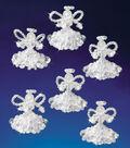 Holiday Beaded Ornament Kit-Crystal Angels 2\u0022 Makes 6