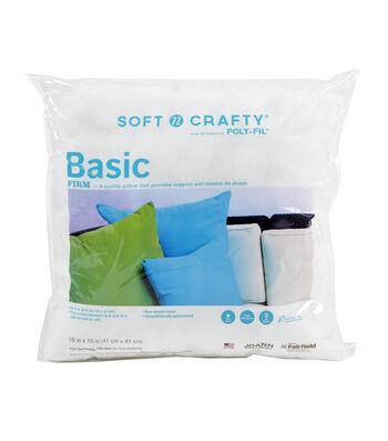 """Soft N Crafty Basic 16"""" x 16"""" Pillow"""
