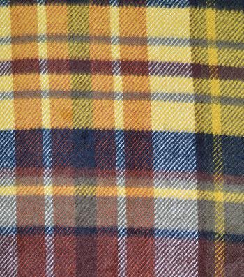 Sportswear Acrylic Fabric-Maroon & Yellow Plaid
