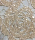 Casa Embellish Gardenia Lace Fabric 49\u0027\u0027-Sequin on Nude Rose