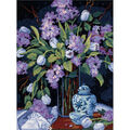 Dimensions Tulips&Lilacs Needlepoint Kit-12\u0022X16\u0022 Stitched In Floss