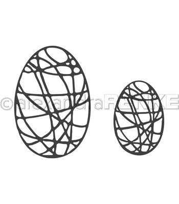 Alexandra Renke 2 pk Metal Dies-Egg with Stripes