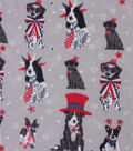 Blizzard Fleece Fabric-Americana Dogs