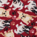 Blizzard Fleece Fabric-French Bulldogs on Red