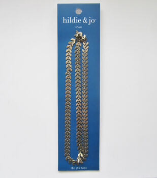 hildie & jo 18'' Metal Fishbone Tight Chain-Gold
