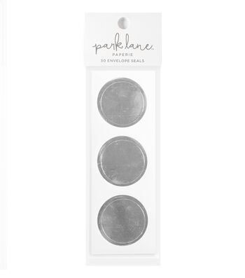 Park Lane 30 pk Circle Envelope Seals-Silver