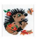 RIOLIS Counted Cross Stitch Kit 5.9\u0022X7.09\u0022-Hedgehog In Basket (10 Count)