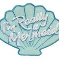 Simplicity Shell Iron-on Applique-I\u0027m Really a Mermaid