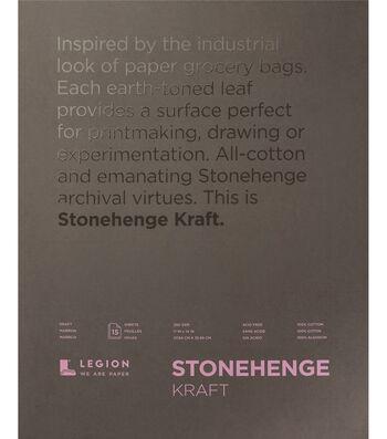 Legion Paper Stonehenge 15-sheet 11''x14'' 90 lb Paper Pad-Kraft