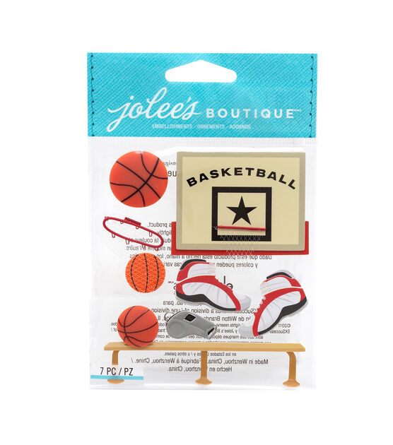 Jolee's Boutique Stickers Basketball, , hi-res, image 1