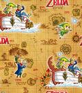Nintendo Zelda Cotton Fabric 43\u0022-Mapquest