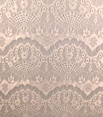 Casa Collection Eyelash Lace Fabric 57''-Snow White
