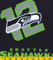 "Seattle Seahawks Fleece Fabric 58""-Logo, , hi-res"