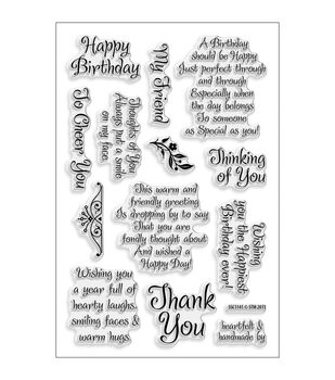 "Stampendous Perfectly Clear Stamps 4""X6"" Sheet-Friendly Phrase"