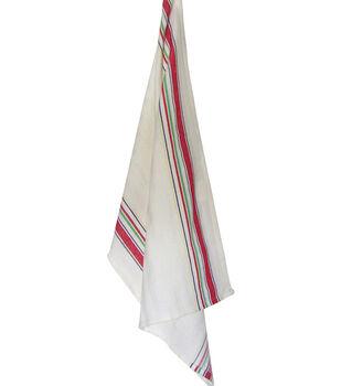"Dunroven House Nostalgic Towel Multi Stripe 20""X28"""