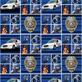 Police Department Cotton Fabric-Block