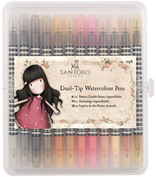 Santoro Watercolour Dual-Tip Pens-Neutrals