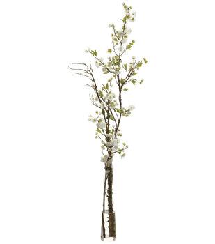 Cherry Blossoms in Glass Vase 52''-White