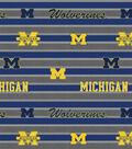 University of Michigan Wolverines Fleece Fabric -Polo Stripe