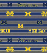 "University of Michigan Wolverines Fleece Fabric 58""-Polo Stripe, , hi-res"