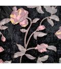 Boho Style Velvet Fabric 54\u0022-Burnout Burgundy Floral