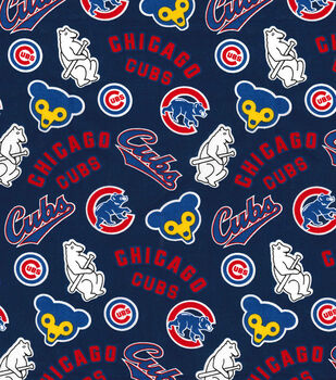 Cooperstown Chicago Cubs Cotton Fabric