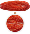Blue Moon Bead Strands Seed Bead Hank size 6/o Red