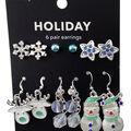 hildie & jo Holiday Earrings-Blue Stars & Snowflakes