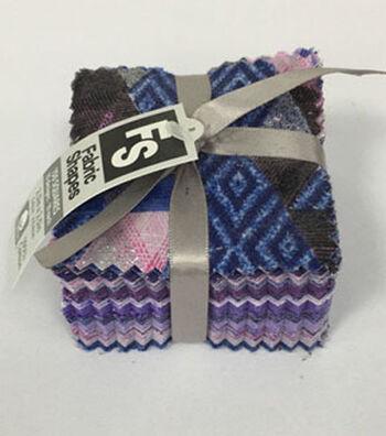 Mini Charm Cotton Fabric Pack 2.5''x2.5''-Purple