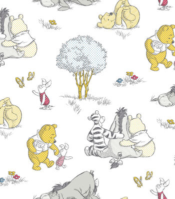 "Nursery Cotton Fabric 43""-Pooh"