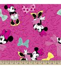 Disney Minnie Mouse Print Fabric-Large Bows