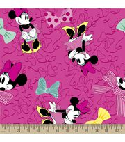 Disney Minnie Mouse Print Fabric-Large Bows, , hi-res