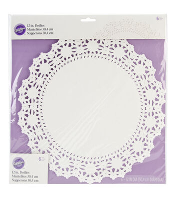 Wilton Doilies Grease Proof White 8''